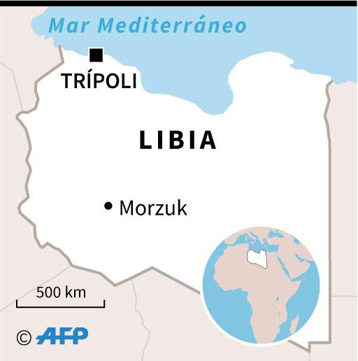 Mapa de Libia localizando la capital Trípoli, donde al menos 57 personas murieron por un ataque aéreo. (Infografía: AFP)