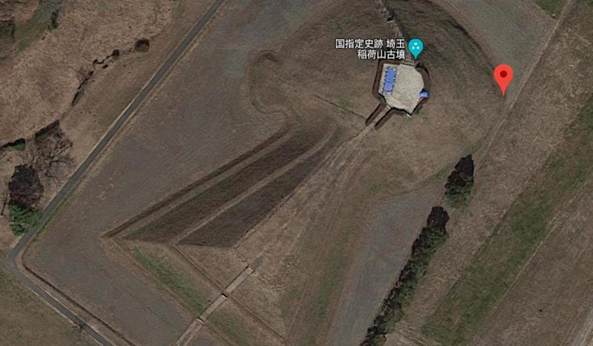 Este es el Inariyama Kofun en la prefectura de Saitama, Japón