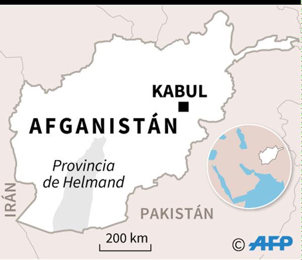 Mapa de Afganistán localizando la provincia de Helmand. (Infografía: AFP)