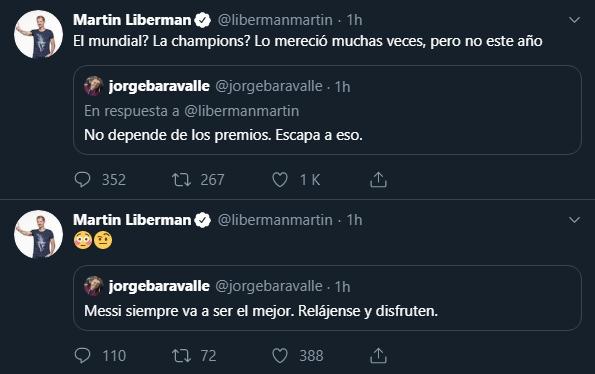 La reacción de Martín Liberman en Twitter. (Foto: Captura)