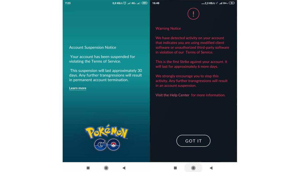 Este es el comunicado que Pokémon GO envía a los usuarios baneados por un error con los dispositivos de Xiaomi. (Foto: Reddit -  Semeliranda)