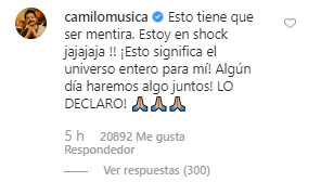 Esto respondió Camilo Echeverry. (Imagen: Instagram)