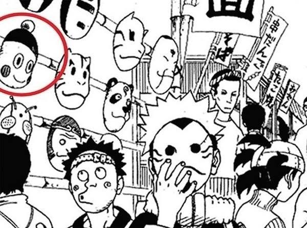 Chaoz y su cameo en el manga de Naruto. (Captura de pantalla)