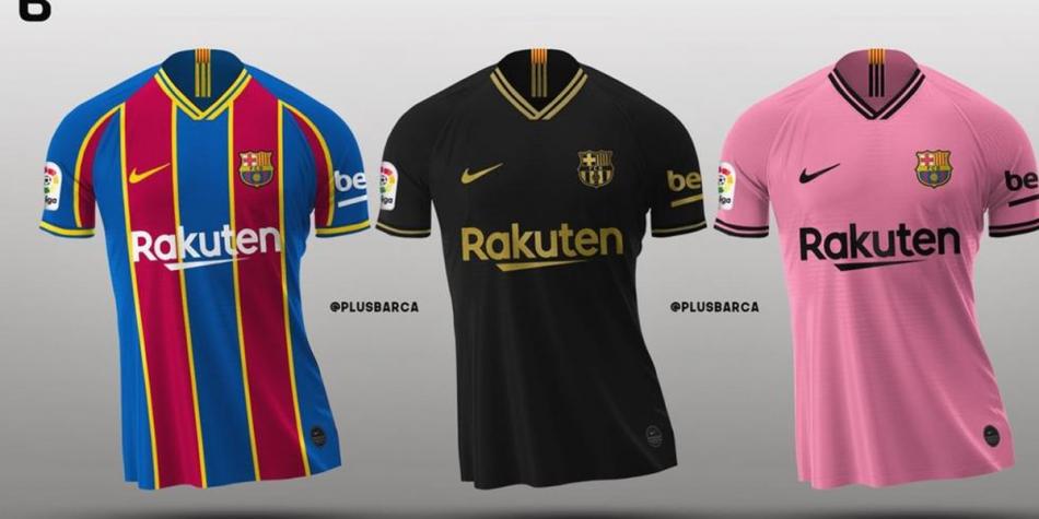 Estas serían las uevas camisetas de Barcelona para la temporada 2020-21. (Foto: Footy Headlines)