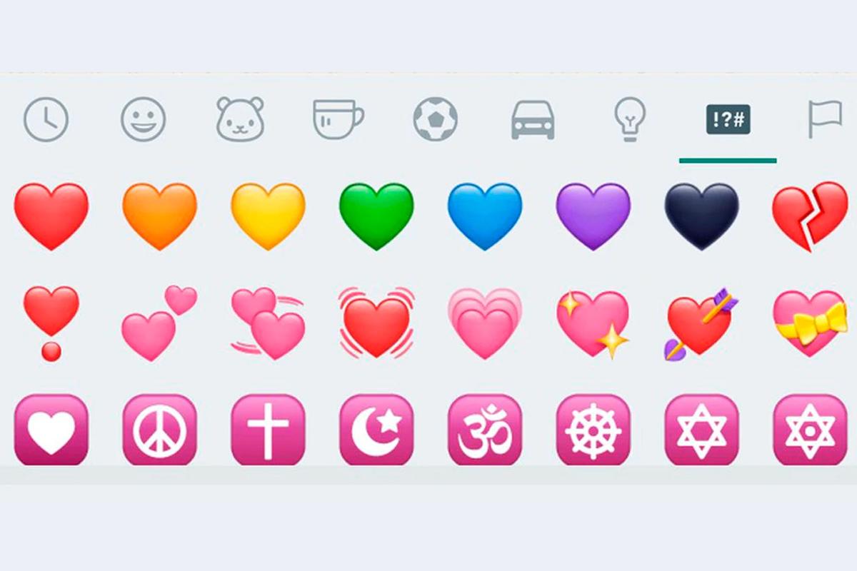WhatsApp cuenta con más de 10 emojis de corazones que no significan lo mismo. (Foto: Emojipedia)
