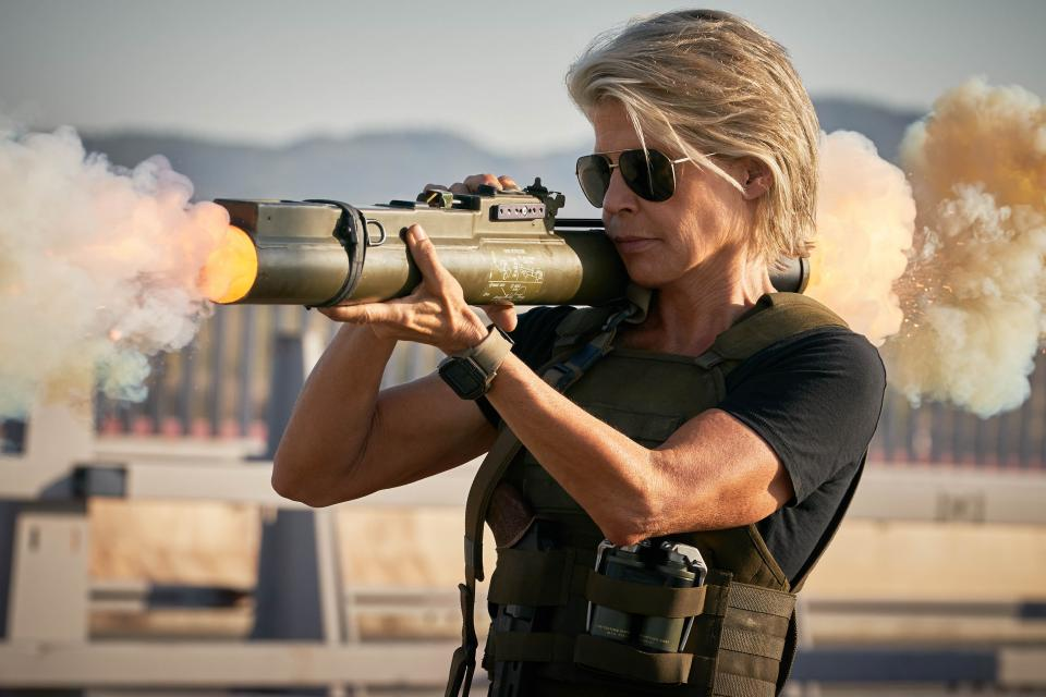 Linda Hamilton vuelve a encarnar a la aguerrida Sarah Connor en la nueva entrega de la popular franquicia 'Terminator'. (Fotos: Paramount Pictures)