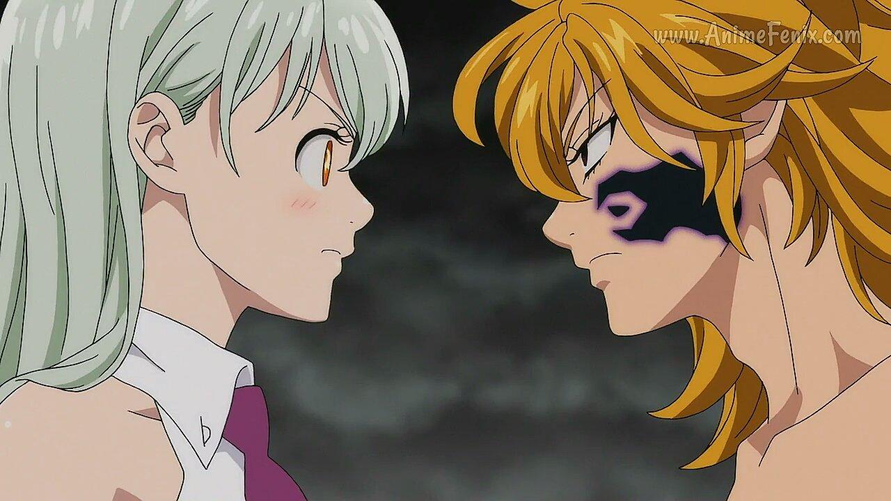 Elizabeth y Derieri conversan, pero de nada sirve (Foto: Studio Deen)