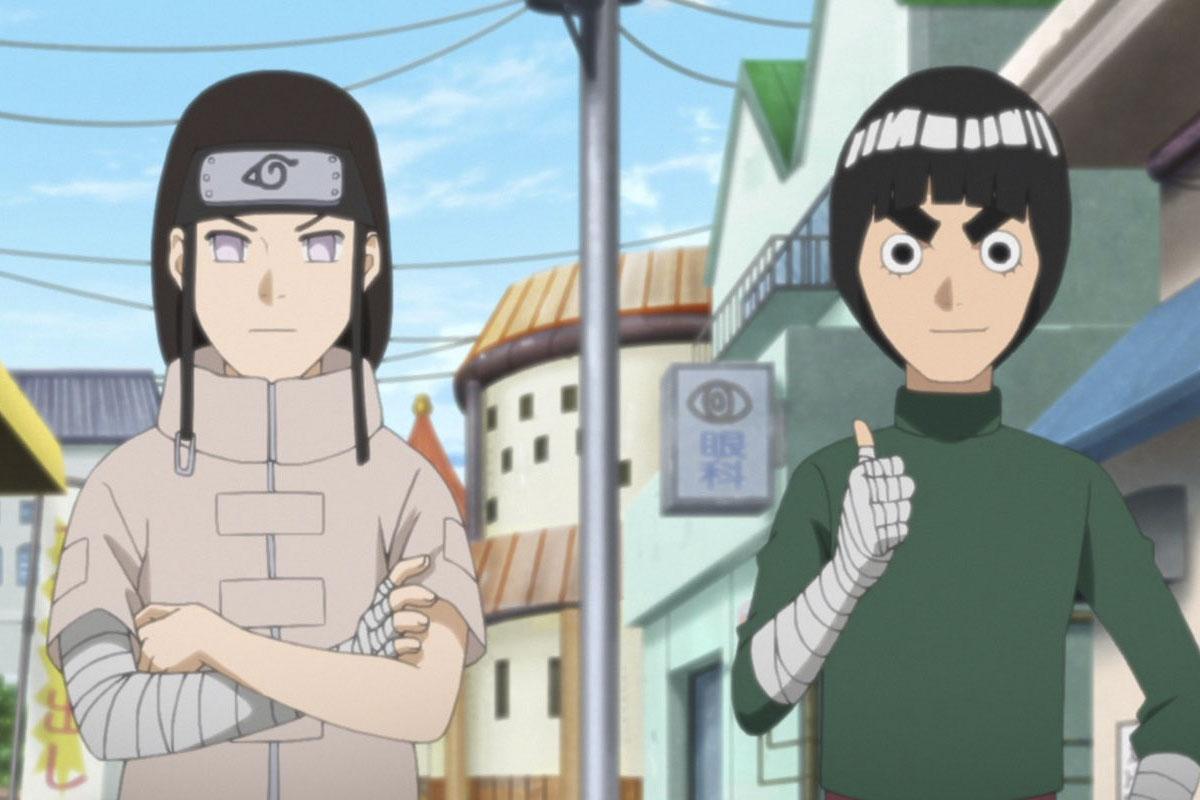 Neji y Rock Lee con sus diseños originales de Naruto (Foto: cho-animedia)