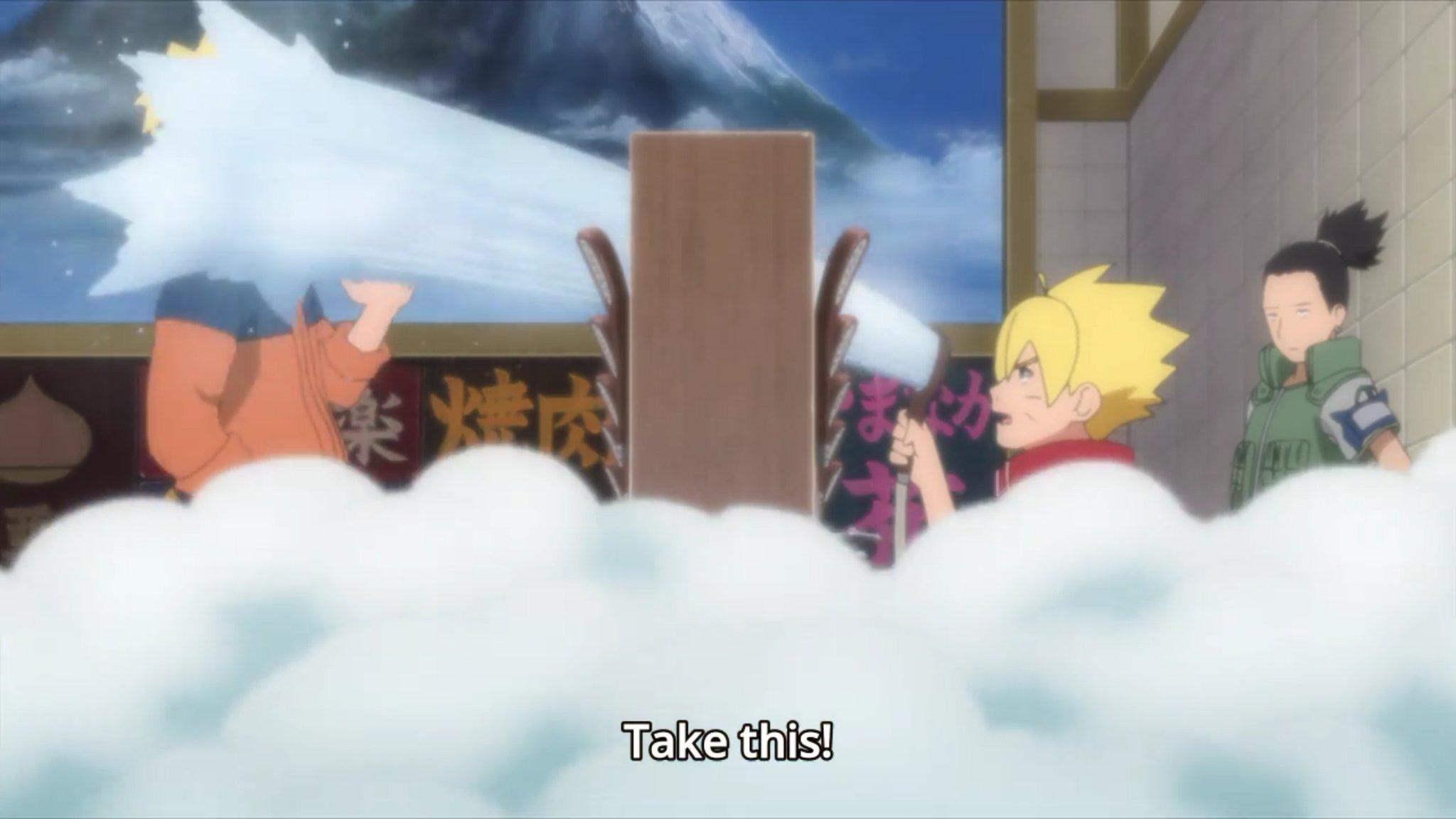 Incluso Boruto se une a la pelea que Naruto comenzó  (Foto: cho-animedia)