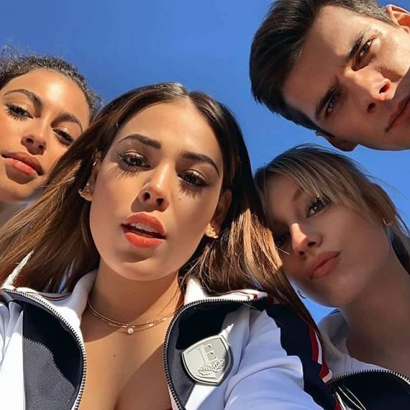 Danna Paola, Ester Expósito, Mina El Hammani e Itzan Escamilla. Foto: Netflix