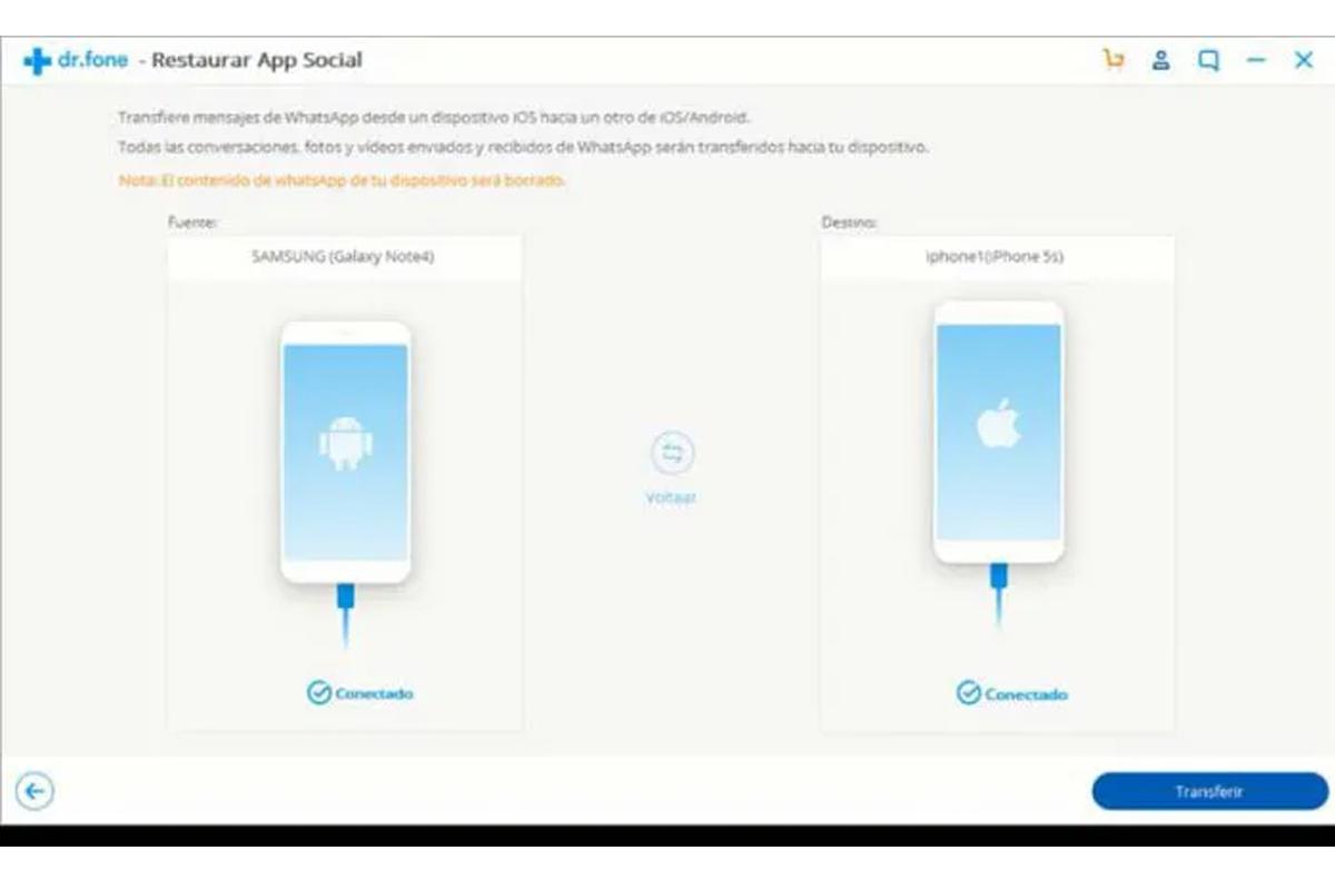 Dr. Fone es la aplicación que te ayudará a transferir todos tus archivos y conversaciones de Android al iPhone. (Foto: Captura)