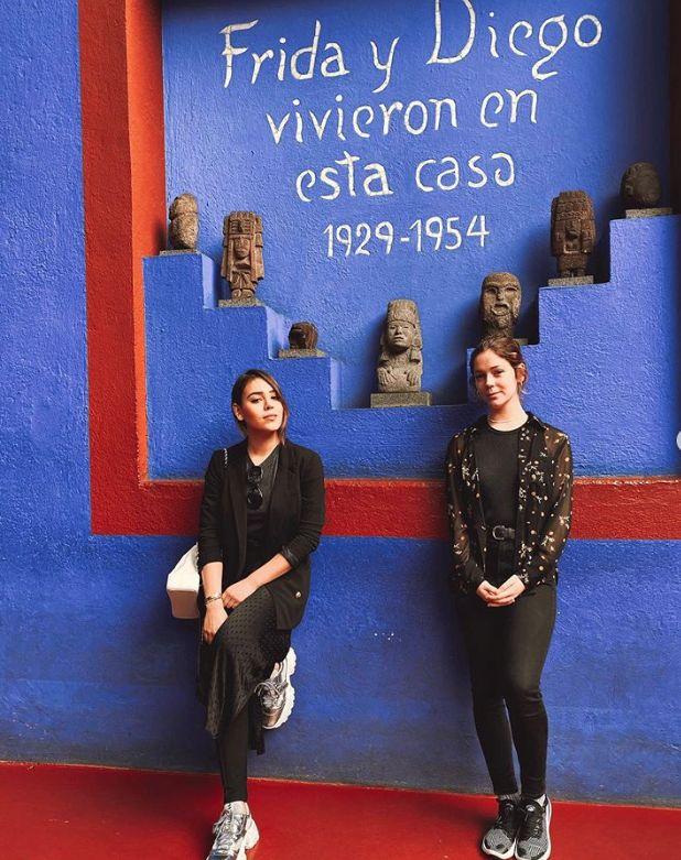 Danna Paola y Georgina viajaron juntas a México y no han dudado en hacer turismo (Foto: Instagram)