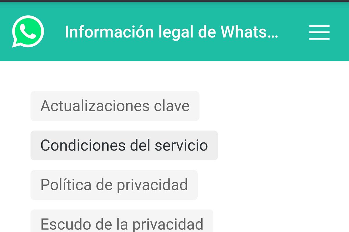 Estas son algunas razones por las que te pueden clausurar la cuenta de WhatsApp. (Foto: Captura)