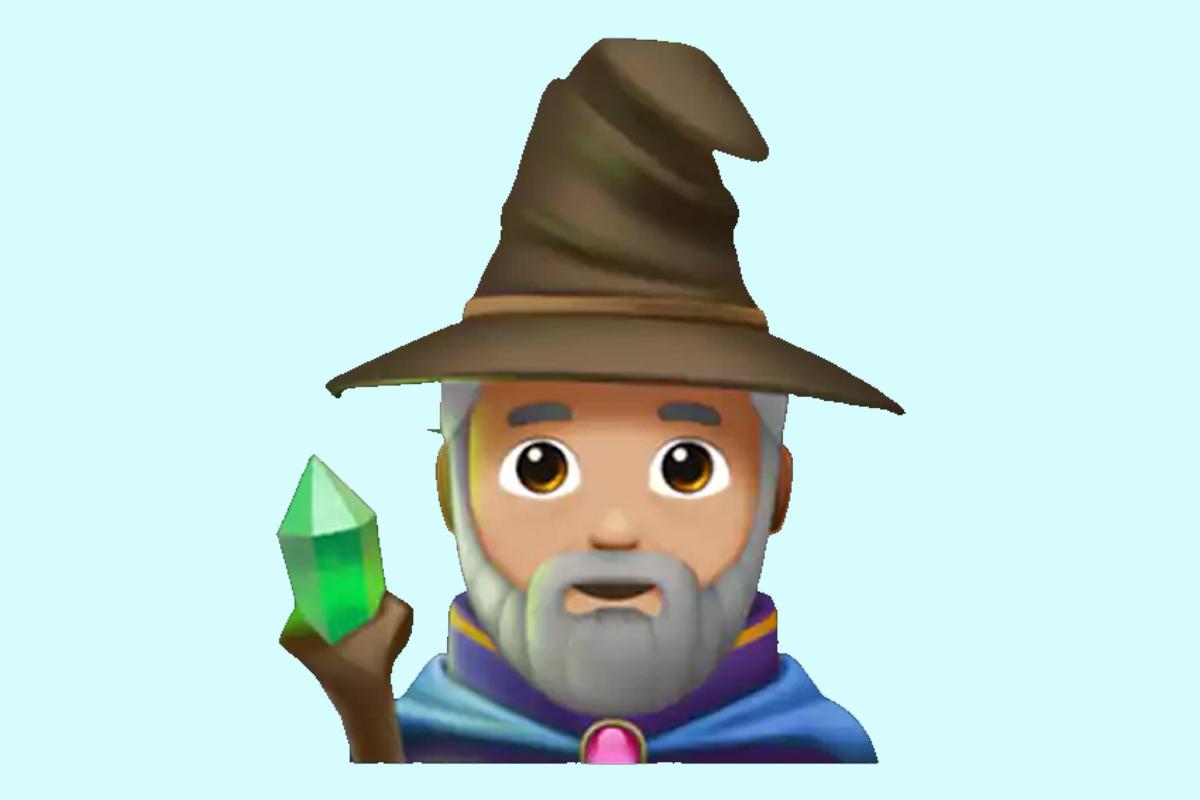 Existe un mago dentro de los emojis de WhatsApp con el gorro seleccionador de Harry Potter. (Foto: Emojipedia)