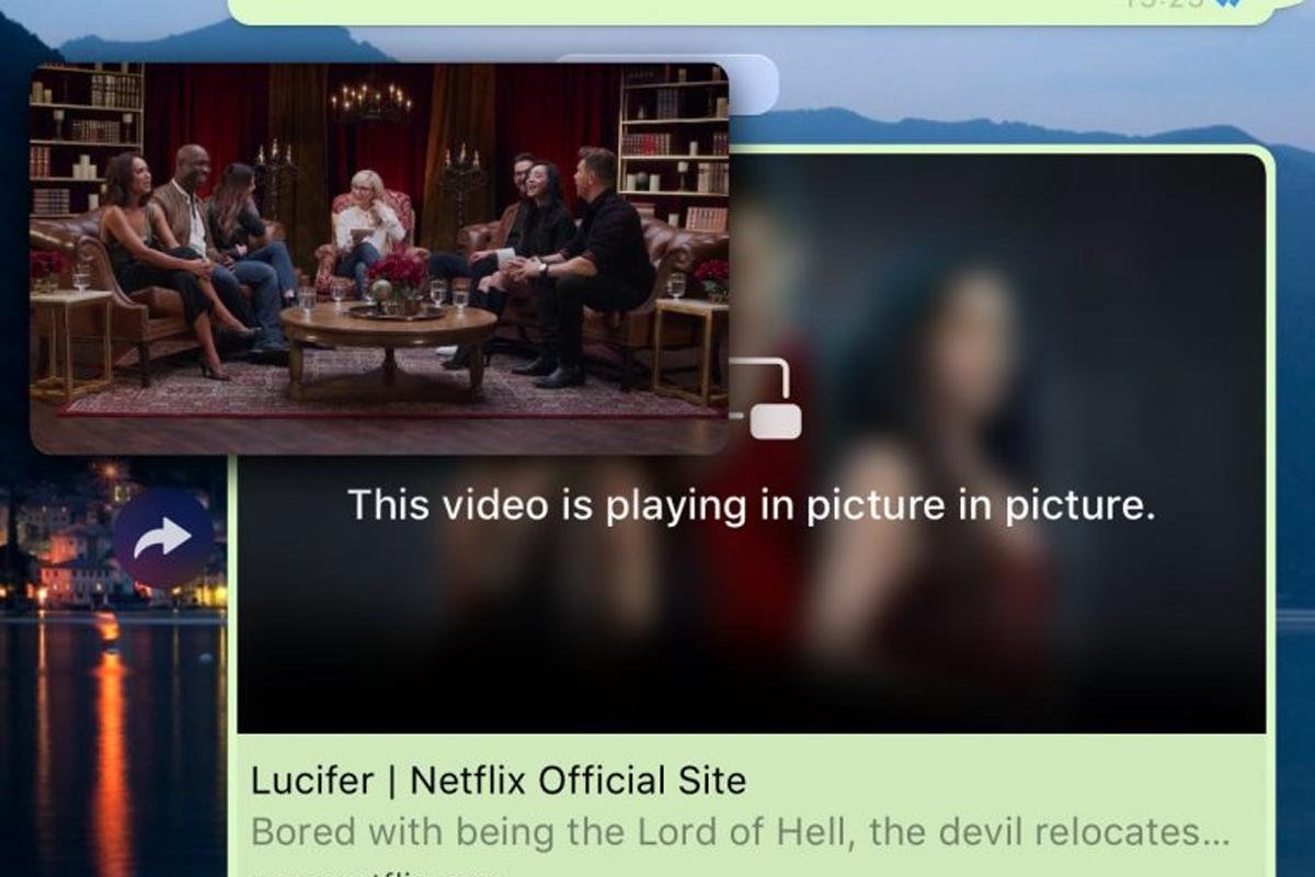 Gracias al modo picture-in-picture, podremos ver el video en Netflix. (Foto: WhatsApp)