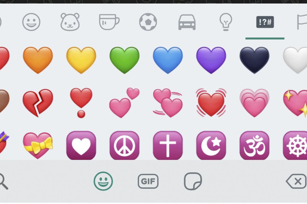 Conoce el significado de todos los corazones que existen en WhatsApp. (Foto: Captura)