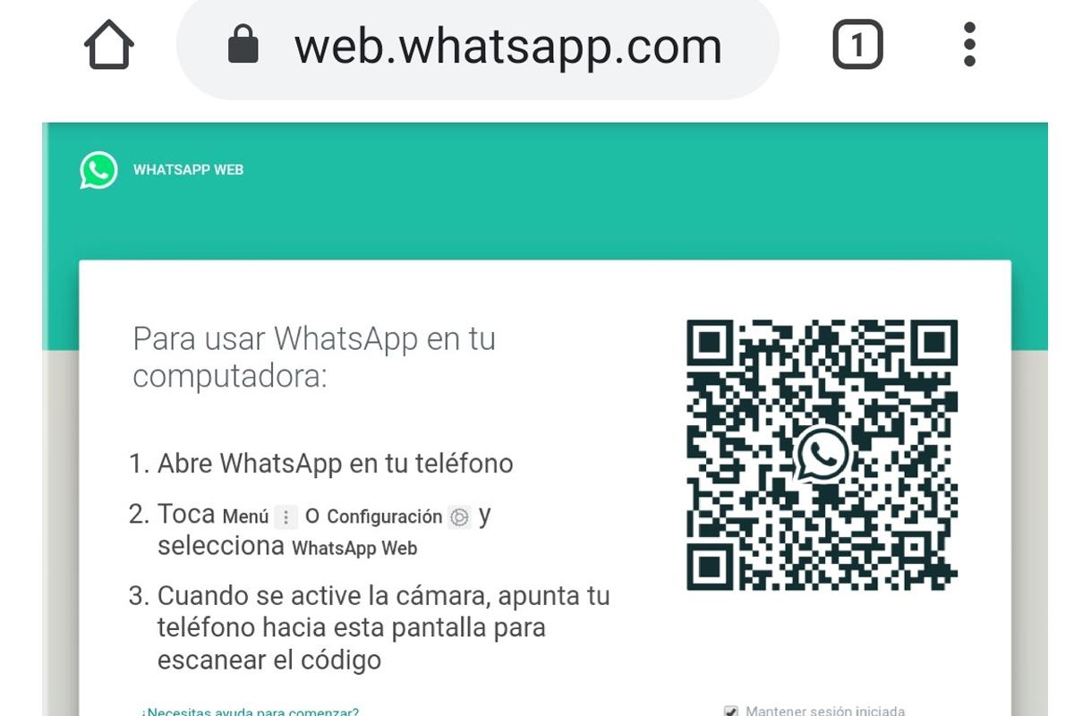 Una de las opciones para usar tu misma cuenta de WhatsApp en otro móvil es a través de WhatsApp Web. (Foto: Captura)