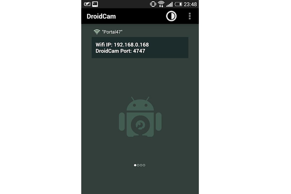 Para poder realizar el truco, deberás descargar <br /> DroidCam Wireless Webcam en tu celular. (Foto: Captura)