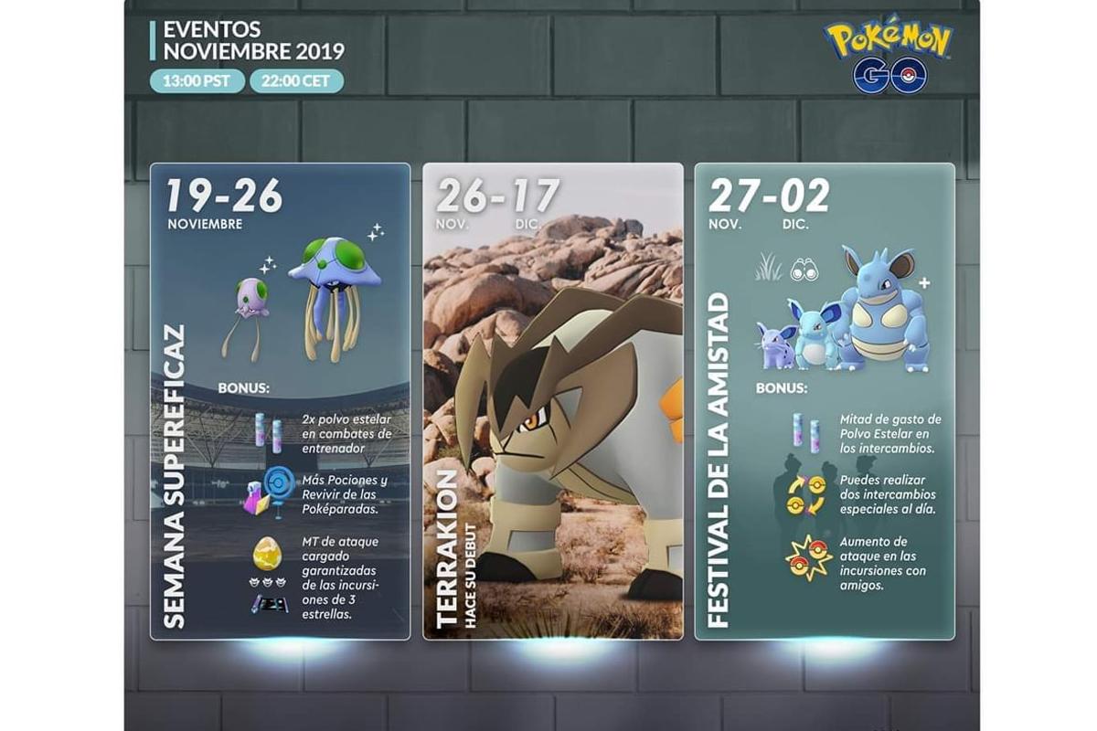 Estas son todas los especiales que Pokémon GO lanzará antes de fin de año. (Foto: Go Hub)
