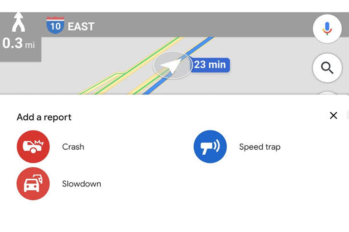 Tienes diversas opciones en Google Maps para informar sobre un accidente en caso te encuentres en camino. (Foto: Google)