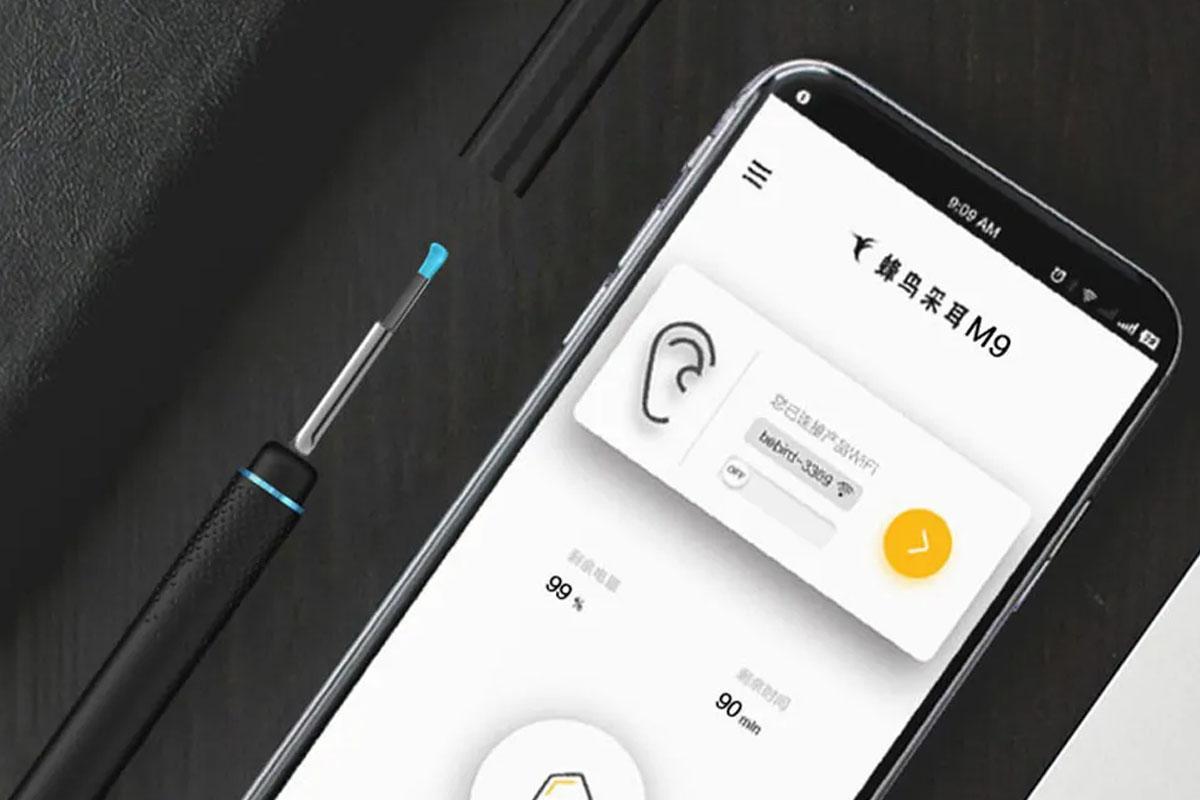 El BeBird M9 tiene una pequeña cámara desde donde podrás ver tu oído y limpiarlo correctamente. (Foto: Xiaomi)
