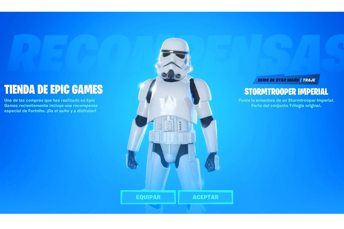 La skin del soldado imperial cuesta 15 mil pavos en Fortnite. (Foto: Epic Games)