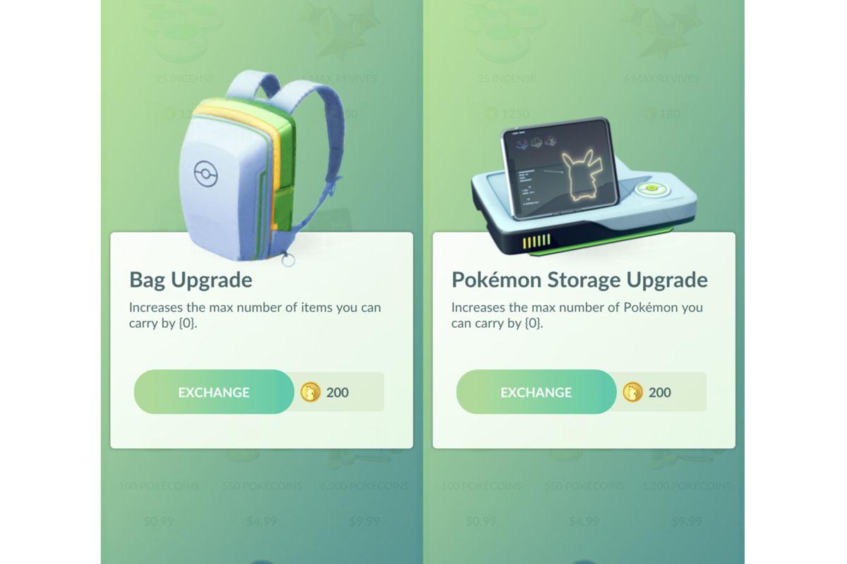 Desde este momento el espacio de almacenamiento de tus objetos y Pokémon suben hasta 3000. (Foto: Pokémon GO)