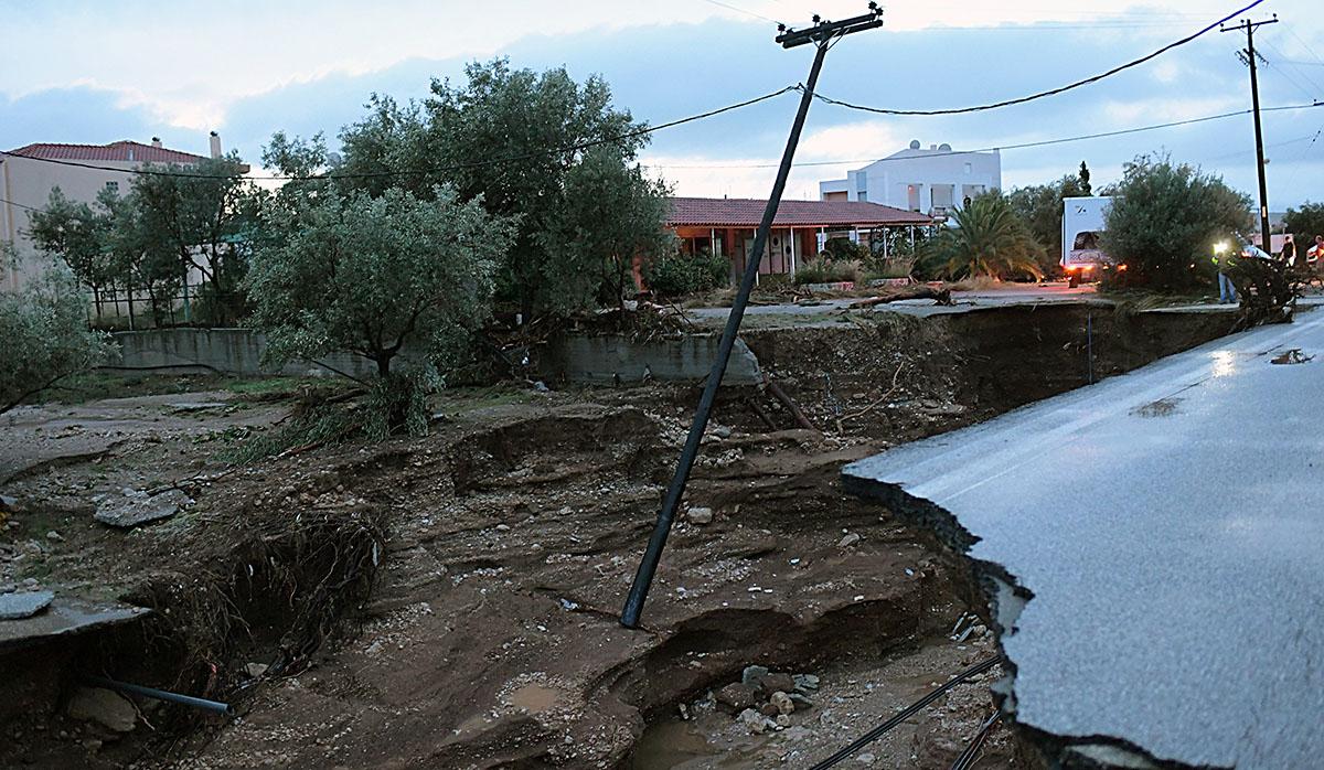 Tormenta dañó la estructura de varias localidades en Grecia. (Foto: AFP)