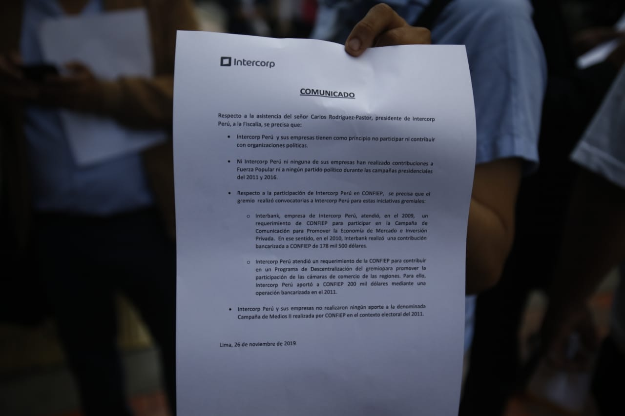 Carlos Rodríguez Pastor, presidente de Intercorp Perú, acudió a declarar a la fiscalía esta mañana. (Foto: GEC)