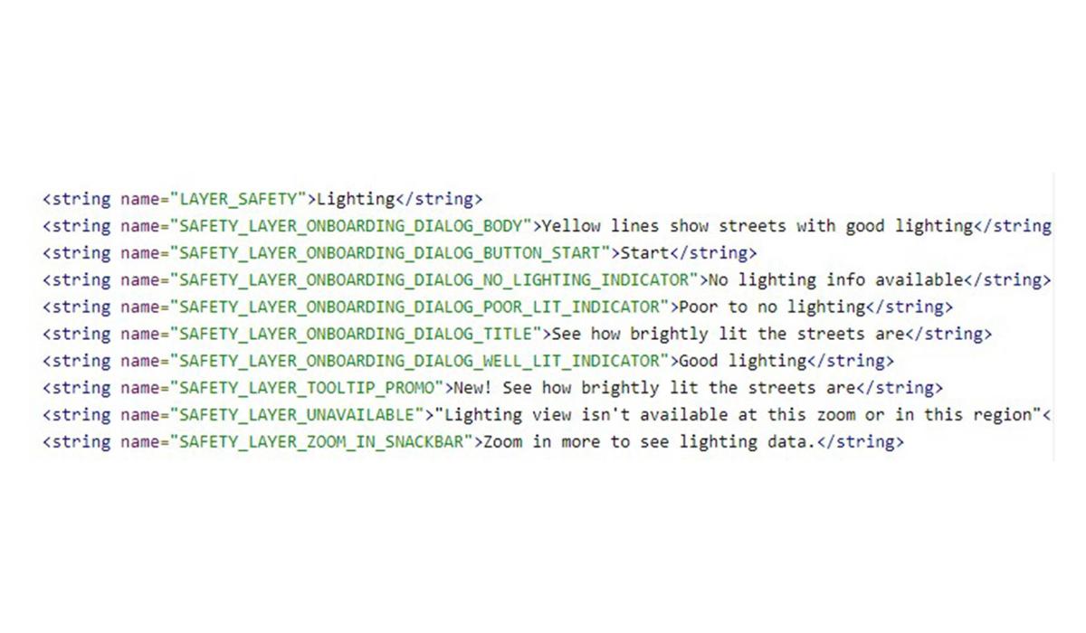 Este es el código que implementa la nueva herramienta en Google Maps. (Foto: Google)