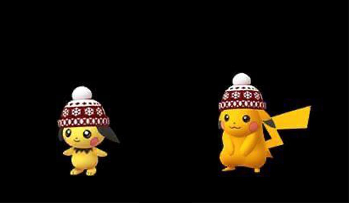 También llegará Pichu y Raichu con gorra navideña. (Foto: Nintendo)