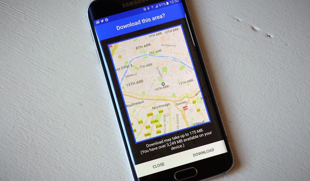 Para ello se recomienda descargar ciertas partes del mapa que vas a usar. (Foto: Google Maps)