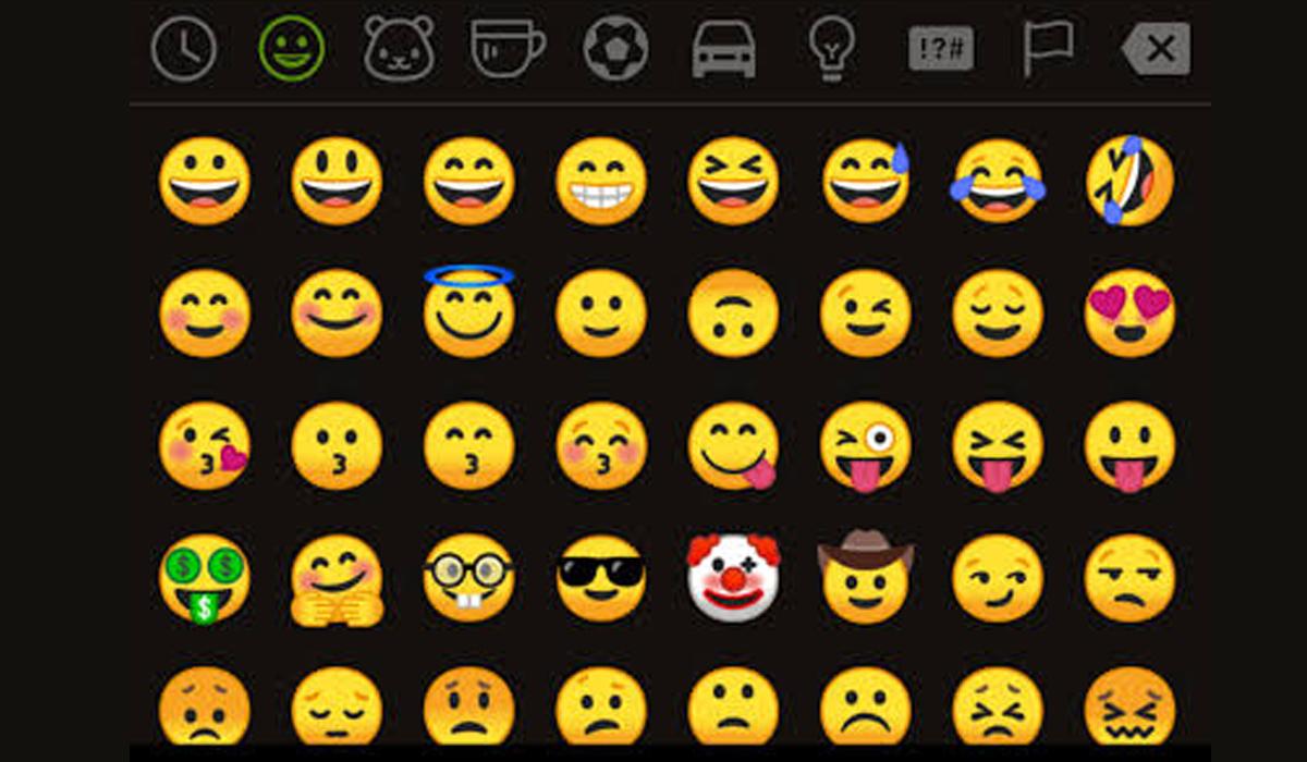 Así se ve la sección de los emojis de WhatsApp en