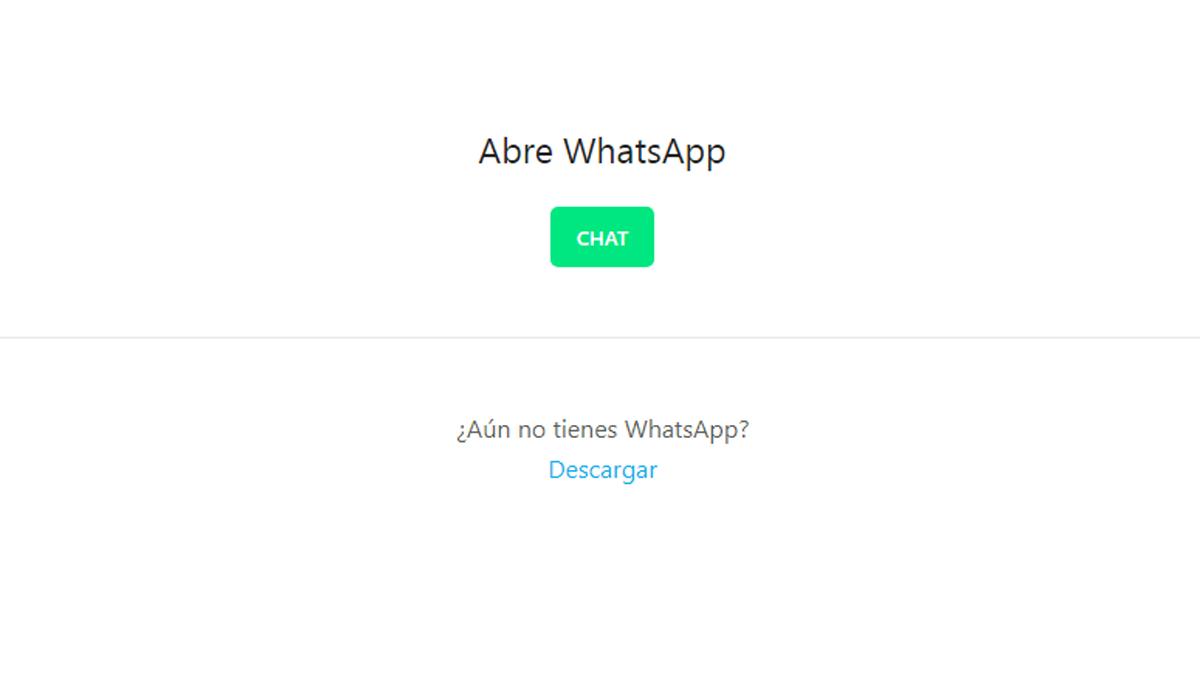 Puedes agregar tu número de WhatsApp desde la web. (Foto: Captura)