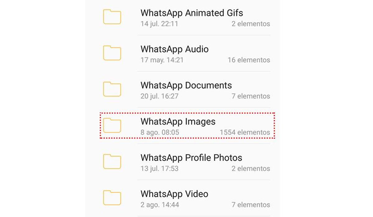 También deberás ingresar a Whatsapp Images. (Foto: WhatsApp)