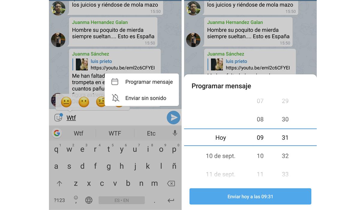 De esta forma podrás enviar un mensaje de Telegram solo cuando la otra persona se conecte. (Foto: Telegram)