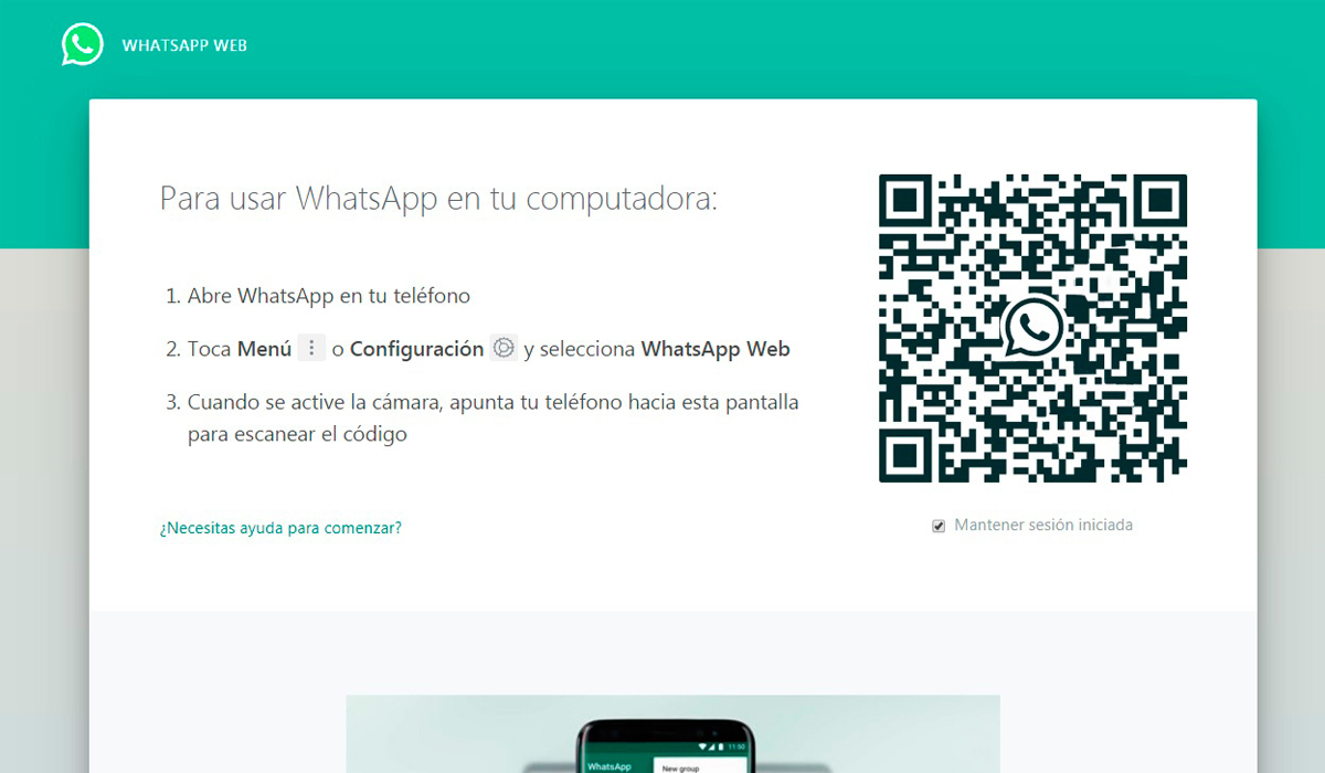 WhatsApp Web tiene la particularidad de abrirse ya sea por la aplicación o por la misma Google Chrome. (Foto: WhatsApp)