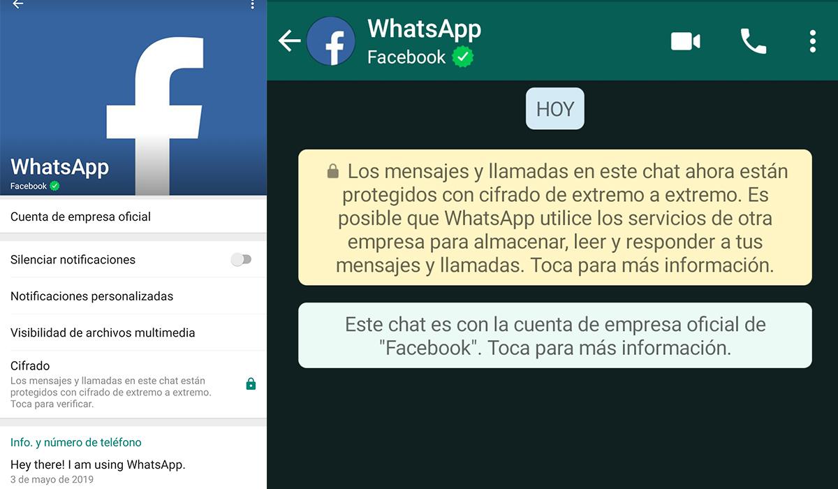 Así luce el WhatsApp de Mark Zuckerberg. (Foto: WhatsApp)