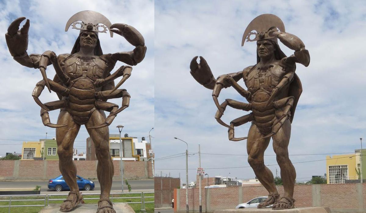 Se trata de Lang Ñam, una deidad mochica. (Foto: Google Maps)