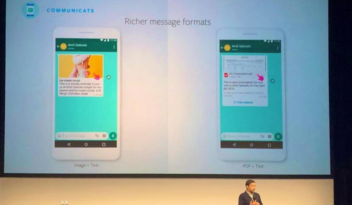 Así es como se verá la publicidad de WhatsApp en un futuro. (Foto: WhatsApp)