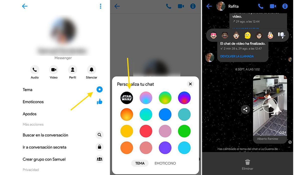 Así es como puedes obtener el cambio de tu fondo de pantalla de Facebook Messenger. (Foto: Facebook)