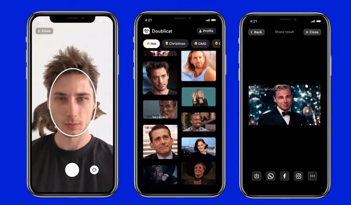 Doublicat te permitirá colocar tu rostro en un GIF de una manera bastante sencilla. (Foto: WhatsApp)