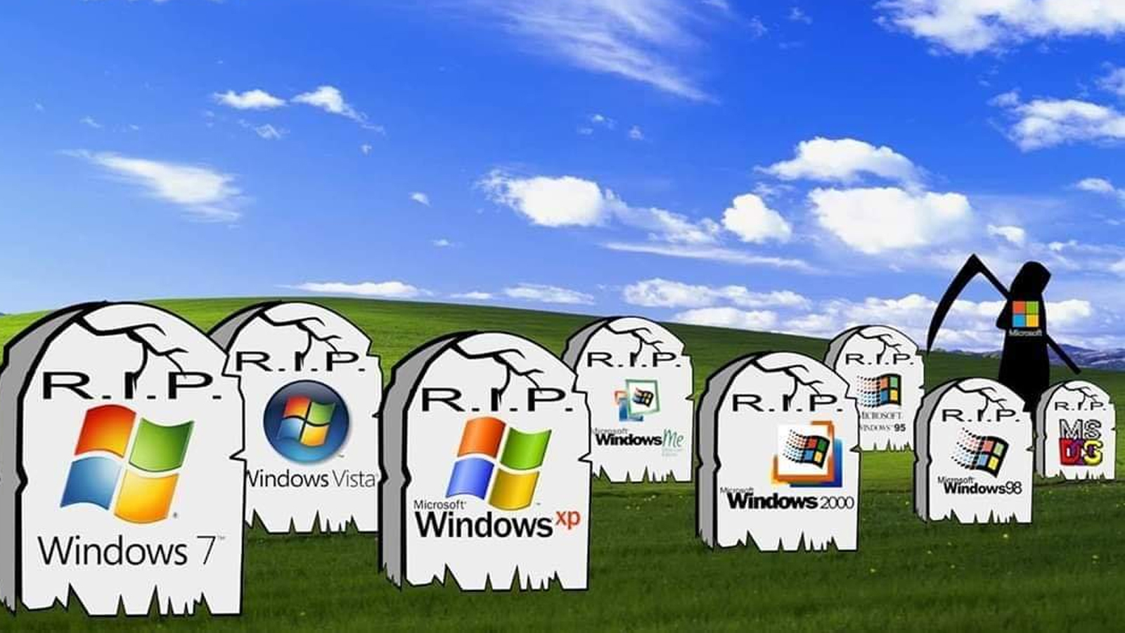 Estos son los divertidos memes del 'fin' de Windows 7. (Foto: Twitter)