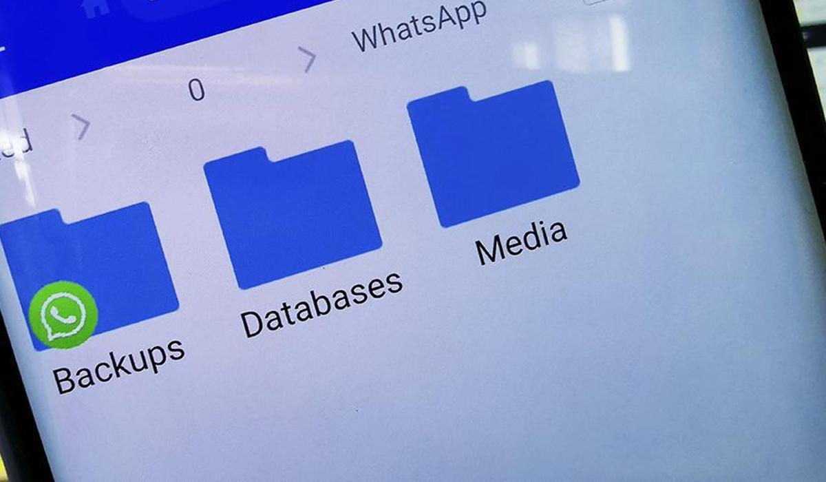 Para ello deberás dirigirte a la sección de WhatsApp de tus archivos del teléfono. (Foto: WhatsApp)