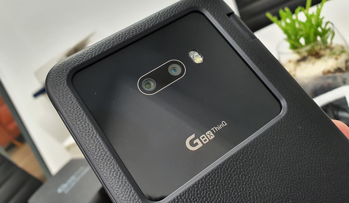 Así luce el LG G8x en su case Dual Screen. (Foto: La Prensa)