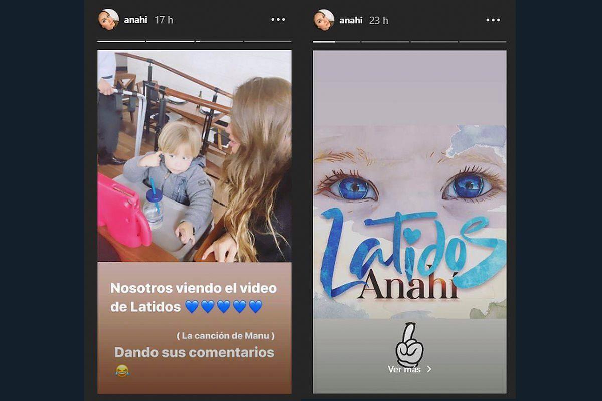 Anahí regresó a la música con el tema 'Latidos' dedicado a su hijo Manuel. (Foto: Instagram)