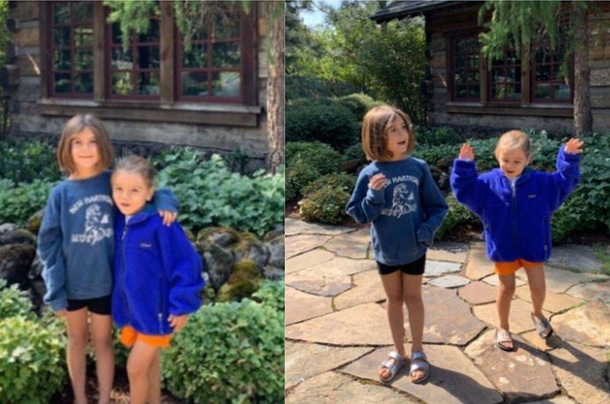 Su hija de 7 años, Penélope, y Reign, de 5, acompañaron a Kourtney Kardashian. (Foto: Instagram)